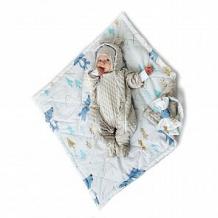 Купить комплект на выписку волчонок slingme, цвет: серый комбинезон/одеяло/шапка/снуд/бант 90 х 90 см ( id 12797566 )