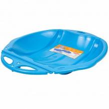 Купить санки-ледянки олимпик веселый паровозик, цвет: голубой ( id 3848365 )