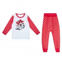 Купить комплект джемпер/брюки апрель сказки, цвет: красный/белый ( id 10456430 )