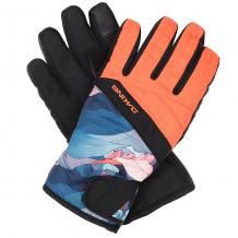 Купить перчатки сноубордические женские dakine sienna glove daybreak черный,оранжевый,синий ( id 1190197 )