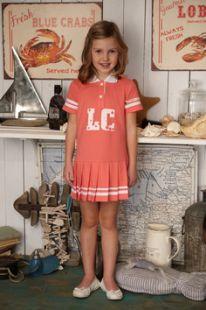 Платье Lucky Child Поло, цвет: коралловый ( ID 2521976 )