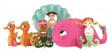 Купить krooom игрушки из картона: 3d набор русалочки k-329