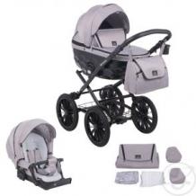 Купить коляска 2 в 1 adamex chantal retro, цвет: светло-серый ( id 11615032 )