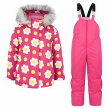 Купить комплект куртка/полукомбинезон ursindo ромашка, цвет: розовый ( id 11238248 )