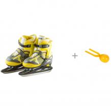 Купить atemi коньки раздвижные ice boy и 1 toy игрушка для формирования снежков