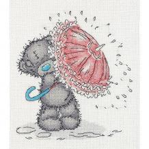 """Купить набор для вышивания мулине klart """"tatty teddy с зонтиком"""", 17,5х19,5 см ( id 10022466 )"""