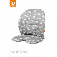 Подушка на съемные сидения для стульчика Stokke Steps Grey Clouds, светло-серый Stokke 996896926