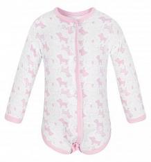 Купить боди чудесные одежки розовые собачки, цвет: белый/розовый ( id 5779579 )