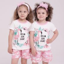 Купить babycollection костюм для девочки фламинго 633/kss010/sph/k1/002/p2/p*d