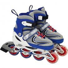 Купить роликовые коньки 1toy, синие 11392239
