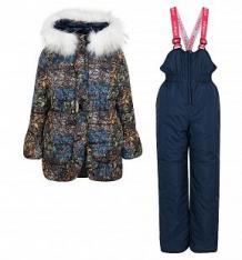 Купить комплект куртка/полукомбинезон boom by orby, цвет: синий ( id 9917772 )