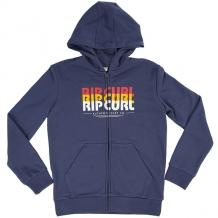 Купить толстовка классическая детская rip curl mr script hooded zip fleece blue indigo синий ( id 1200761 )