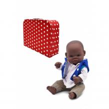 Купить miniland кукла пупс мальчик африканец джикони в чемоданчике 32 см ma323913