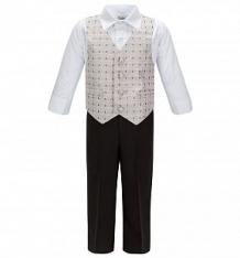 Купить комплект рубашка/бабочка/жилет/брюки rodeng, цвет: серый ( id 425144 )