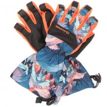 Купить перчатки сноубордические детские dakine yukon glove daybreak синий,мультиколор,оранжевый 1196353