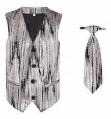 Купить комплект жилет/галстук милашка сьюзи, цвет: бежевый/черный ( id 5857387 )