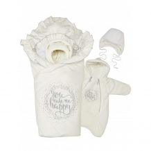 Купить babyglory комплект на выписку счастье весна-осень (4 предмета) k041