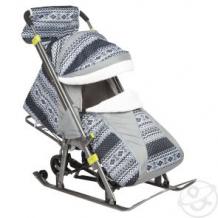 Купить санки-коляска galaxy финляндия, цвет: черный ( id 11518804 )