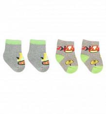 Купить носки yo!, цвет: серый/салатовый ( id 9820311 )