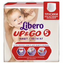 Купить libero подгузники-трусики up&go size 5 (10-14кг), 68 шт. 5526