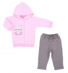 Купить комплект жакет/брюки koala psotka, цвет: розовый v5-895