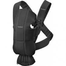 Купить рюкзак-переноска baby bjorn mini cotton, черный babybjorn 997006027