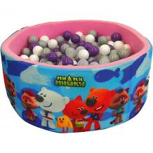 """Купить сухой бассейн hotenok """"мимимишки"""" розовый, 40 см, 200 шариков 12191158"""