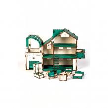 Купить mylandtoys домик кукольный в разборном виде с гаражем и мебелью замок-2