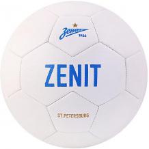"""Купить футбольный мяч """"зенит"""" размер 5, белый 10243486"""