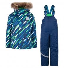Купить комплект куртка/полукомбинезон stella космос, цвет: синий/зеленый м-337/1