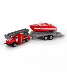 Купить набор технопарк пожарная служба урал с лодкой на прицепе 7.5 см ( id 5476537 )