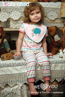 Купить комплект брюки 3 шт lucky child овечки, цвет: розовый ( id 2134580 )