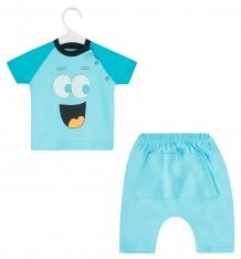 Купить комплект футболка/шорты aga smile, цвет: голубой ( id 8481643 )