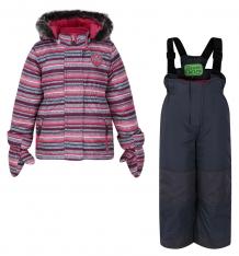Купить комплект куртка/полукомбинезон peluche&tartine, цвет: розовый ( id 6774211 )