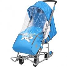 """Купить санки-коляска ника детям """"baby 1"""" далматинец голубой 10406876"""