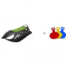 Купить санки gismo riders детские пластиковые neon grip и нордпласт санки-ледянки 031