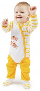 Купить комплект боди/ползунки babyglory сафари, цвет: оранжевый 8428927