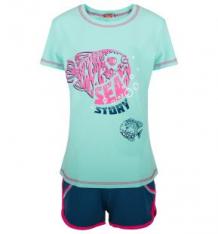 Купить спортивный комплект футболка/шорты, цвет: голубой pelican ( id 2689454 )