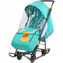 """Купить санки-коляска ника детям """"baby 1"""" винни изумрудный 10406873"""
