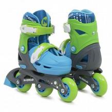 Купить ролики n.ergo n-069 2 в 1 размер30-33, цвет: синий/салатовый ( id 12009448 )