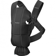 Купить рюкзак-кенгуру babybjorn mini cotton чёрный 8584417