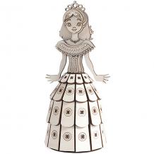 """Купить деревянный 3d конструктор подвижный """"принцесса"""", lemmo 6918936"""