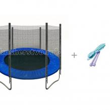 Купить кмс батут с защитной сеткой trampoline 6 диаметр 1.8 м со скакалкой atemi