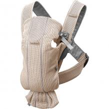 Купить рюкзак-кенгуру babybjorn mini mesh, жемчужно-розовый 11487691
