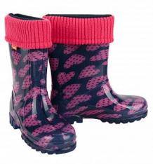 Купить резиновые сапоги demar, цвет: розовый ( id 8609191 )