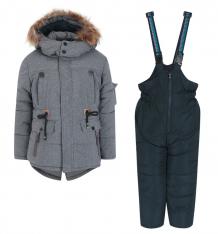 Купить комплект куртка/полукомбинезон fobs, цвет: серый ( id 9817032 )