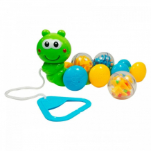 Купить каталка-игрушка bebelino гусеница с шариками 58026