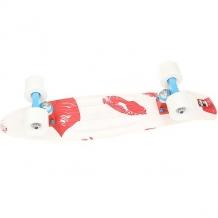 Купить скейт мини круизер пластборд pixel white/red 6 x 22.5 (57.2 см) белый,красный ( id 1176978 )