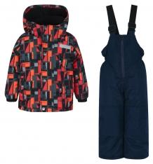 Купить комплект куртка/полукомбинезон salve by gusti, цвет: черный/оранжевый ( id 9819903 )