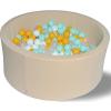 """Сухой бассейн Hotenok """"Ванильная дискотека"""" 40 см, 200 шариков ( ID 9633786 )"""